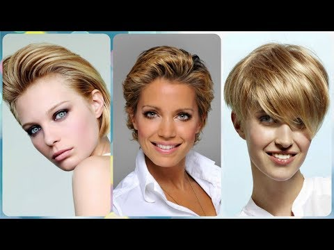 Die Modische 20 Ideen Zu Kurzhaarfrisuren Blond 2019 Youtube
