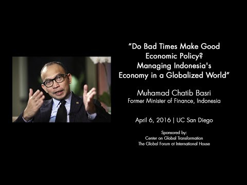 Do Bad Times Make Good Economic Policy? Managing Indonesia's Economy in a Globalized World