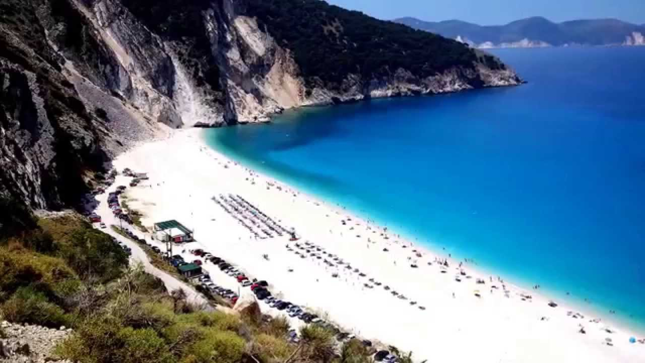 Myrtos beach, Kefalonia, Greece - YouTube