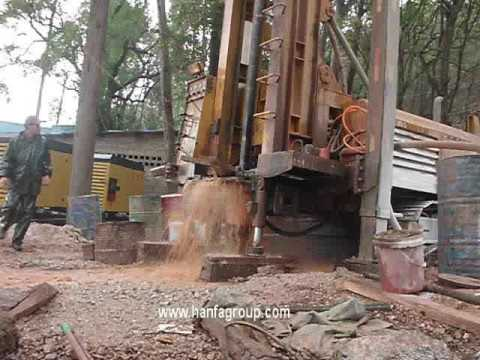 Hanfa HF1100Y Water Well Drilling Rig In Working Site