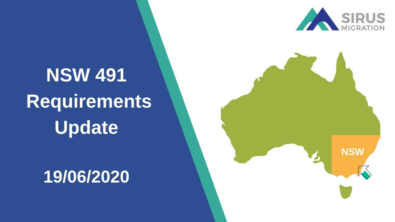 NSW 491 REQUIREMENTS UPDATE 19/06/2020
