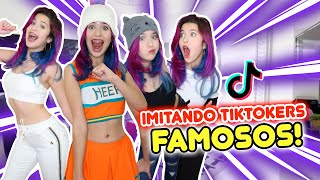 IMITANDO LOS TIK TOK MAS VIRALES DE FAMOSOS!!!  | Leyla Star 💫