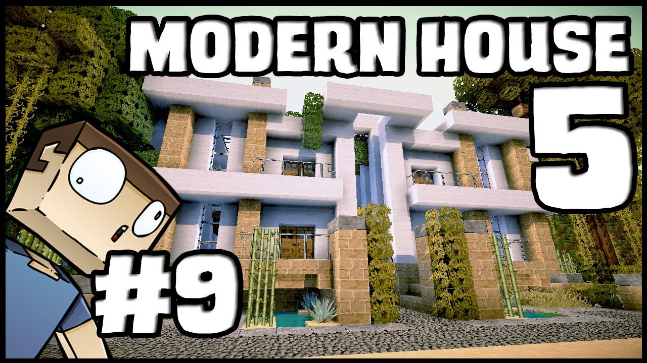 Minecraft lets build modern house 5 part 9 youtube for Lets build modern house 7