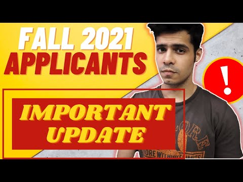 Fall 2021 Applicants! PAY ATTENTION. Do this now.