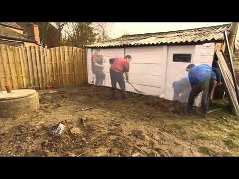 Houten terras aanleggen tuinaanleg gamma belgi youtube - Terras hout ...