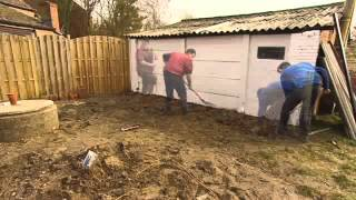 Houten terras aanleggen - Tuinaanleg   GAMMA België