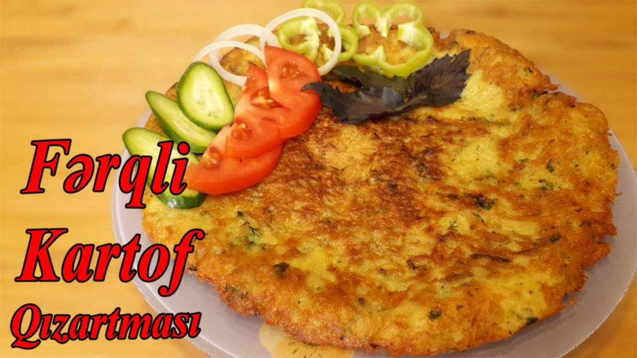 Asan və Çox Dadlı Kartof Qızartması Yeməyi, yemek reseptleri