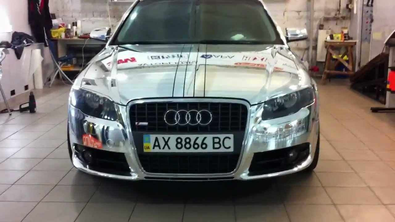 Audi A4 Chrome пленка хром Www Restyling Ua Youtube