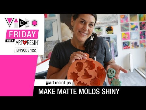 How To Make Matte Resin Shiny - YouTube