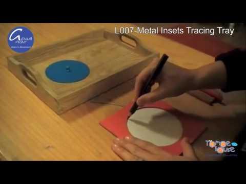 L007 Metal Insets Tracing Tray - Khung tập viết |Giáo cụ Montessori