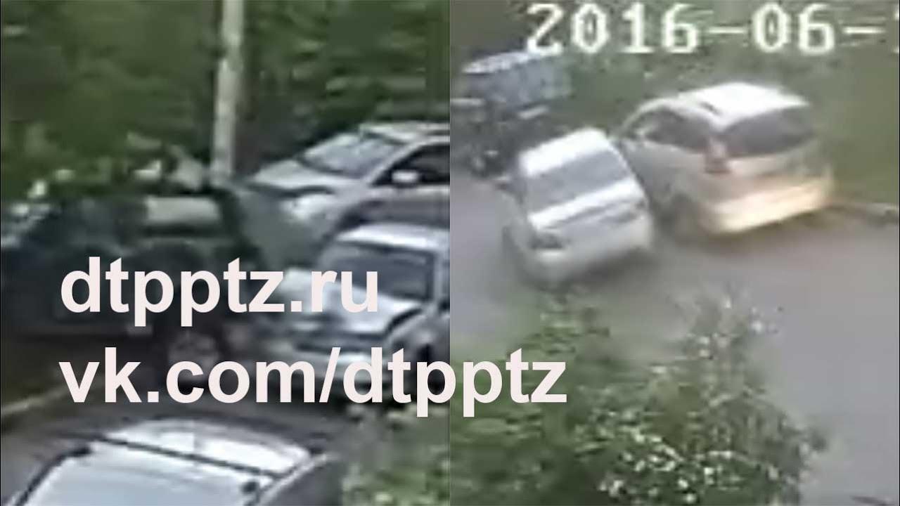 ДТП с участием трёх автомобиле в центре Нижнего Тагила