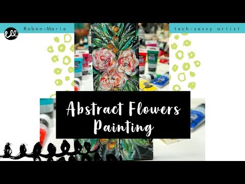 Abstract Flowers Paint Tutorial