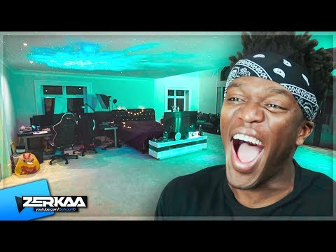 KSI REACTS To New BEDROOM MAKEOVER!