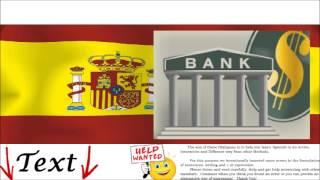 Spanish Conversation - At the bank = En el banco - Money, Deposits, Payments, Credits