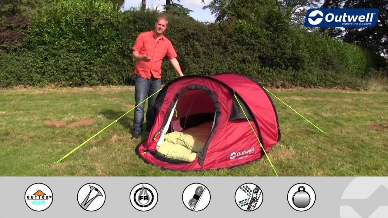 Outwell Tent Vision 200 (red. blue or lime) & Outwell Tent Vision 200 (red. blue or lime) - YouTube