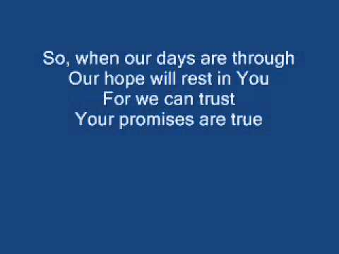 Our Only hope is You (Sovereign Grace Music) Lyrics