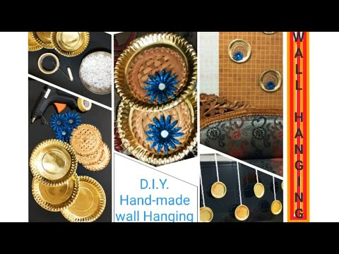 easy and simple D.I.Y. wall hanging from paper plate for home puja decoration  BEST OUT OF WASTE