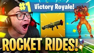*NEW* LEGENDARY GUIDED MISSILE ROCKET RIDES SNIPE GAME WINNER OFF THE ROCKET! FORTNITE BATTLE ROYALE
