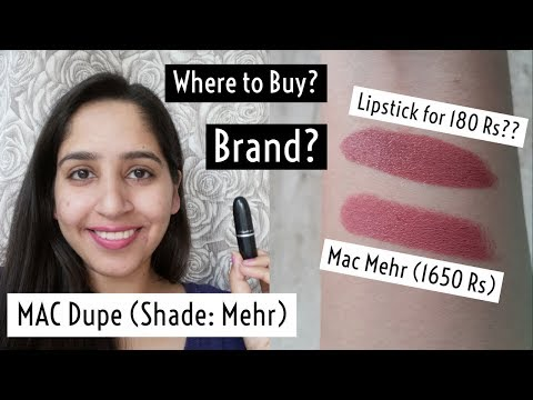 MAC Lipstick (Mehr Shade) Dupe for 180 Rs Only?   Ishita