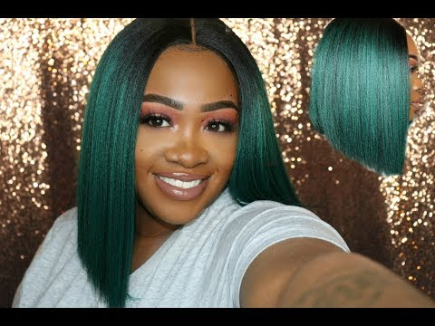 POKER STRAIGHT BOB under $40 | OTTEAL GREEN | Sams Beauty