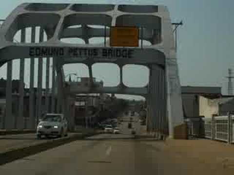 Crossing Edmund Pettus Bridge into Selma, AL