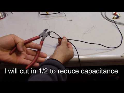 DIY RCA cable with zero capacitance, minimum budget 4 tube amplifiers, use LAN cable