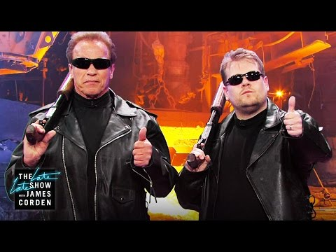 Corden & Schwarzenegger Act Out Snippets From Arnold's Film Career