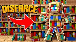 Minecraft: DISFARCE DE ESTANTE DE LIVROS - (Esconde-Esconde)