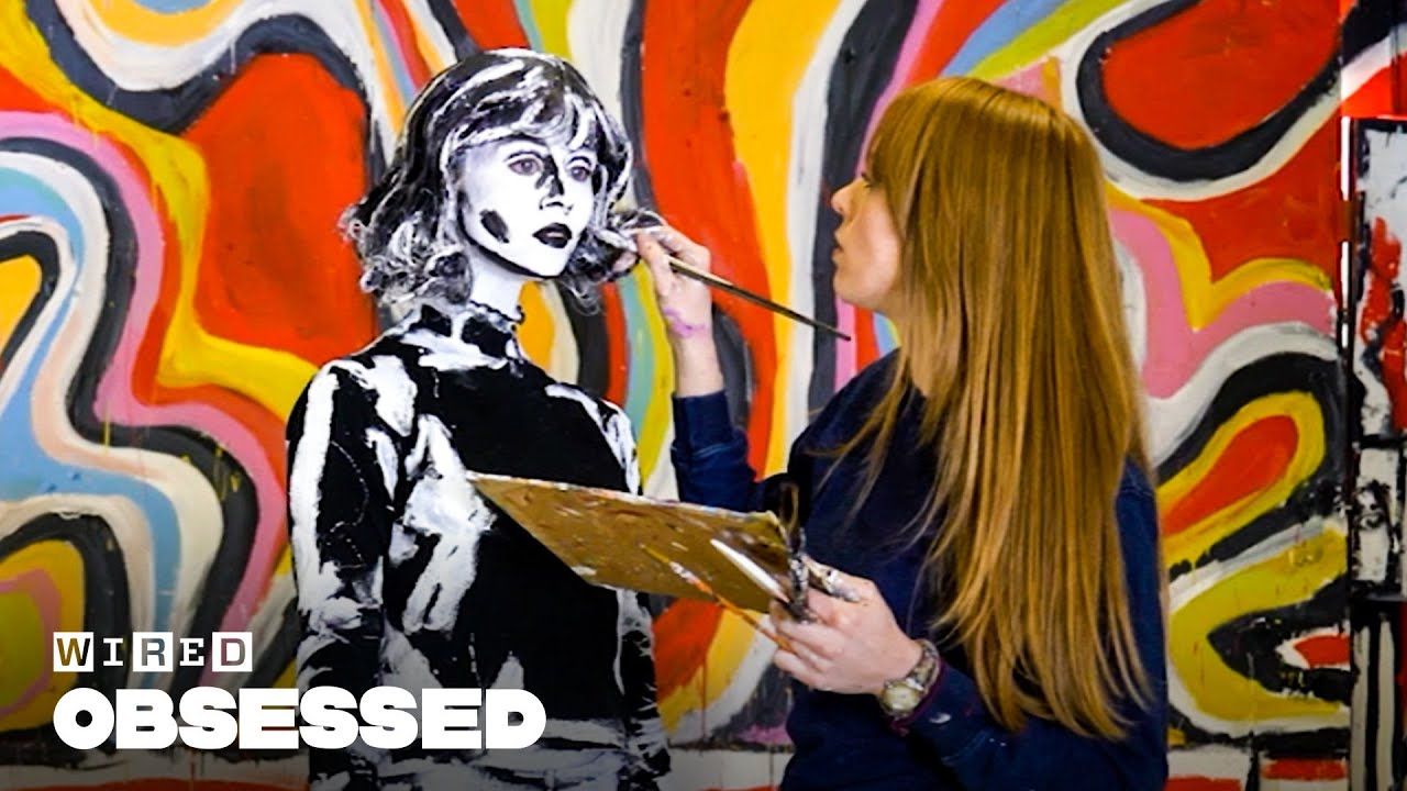 How This Painter Turns People Into 2D Art | Obsessed
