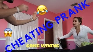 CHEATING PRANK ON GIRLFRIEND!! ( GONE WRONG )