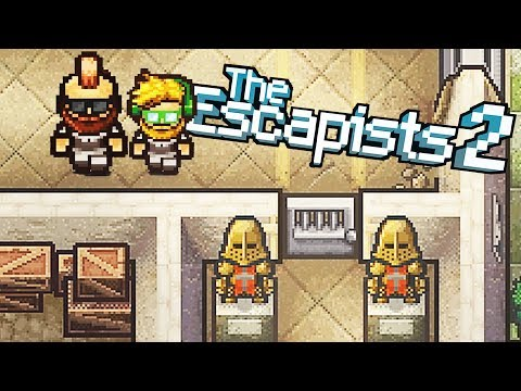 Imprisoned in the KAPOW Castle Prison Camp! - The Escapists 2 Gameplay - 동영상