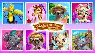 Jungle Animal Hair Salon - Tropical Beauty Salon Pretend Play | TutoTOONS Cartoons & Games for Kids