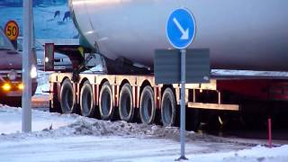 Heavy haulage Transports of wind turbines parts Volvo FH16 & Scania R-serie