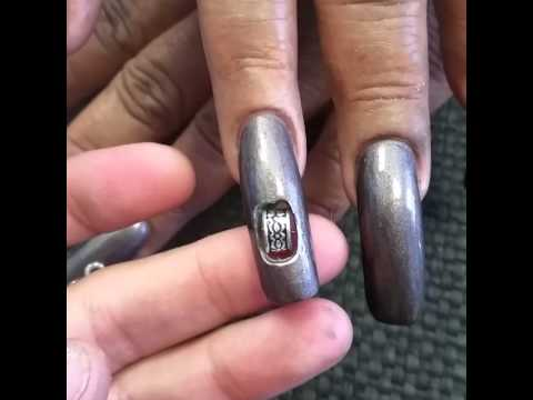 Spinning bead Nail art - YouTube