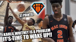 IT'S TIME TO WAKE UP ON Kahlil Whitney!! | 6'7 Wing Drops 37 at EYBL Dallas thumbnail