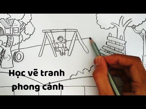 Vẽ Tranh Phong Cảnh chủ đề Công Viên – How to draw Landscapes | Khái quát các kiến thức liên quan vẽ công viên chính xác nhất