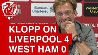 Liverpool 4-0 West Ham: Jurgen Klopp's post-match press conference