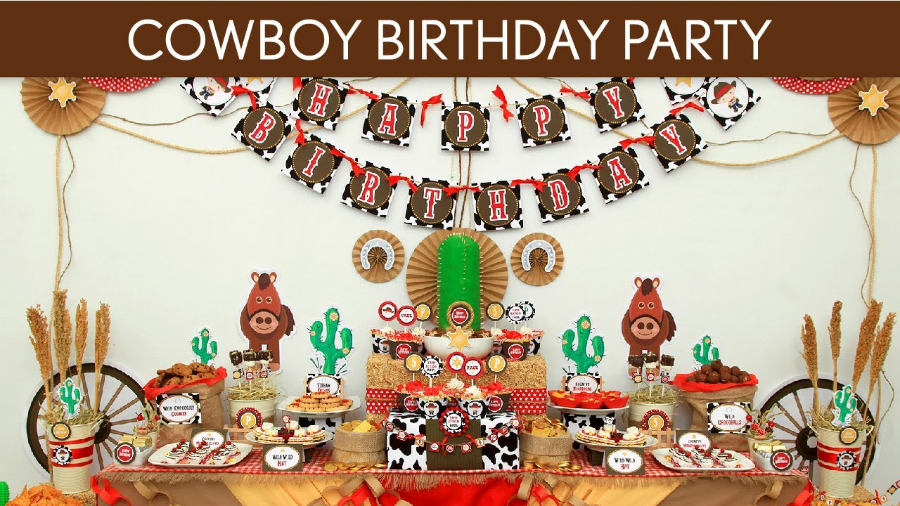 Cowboy Birthday Party Ideas Kids Birthday Party Guide