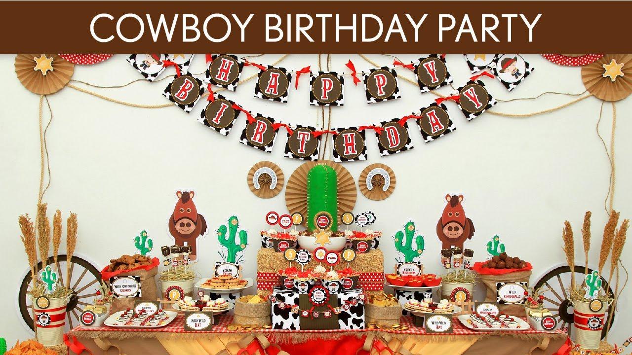 Cowboy Birthday Party Ideas Cowboy B11 Youtube