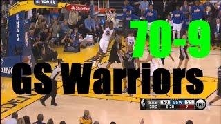 Стэфен Карри. 70-9 GS Warriors vs SA Spurs. 2016.04.07