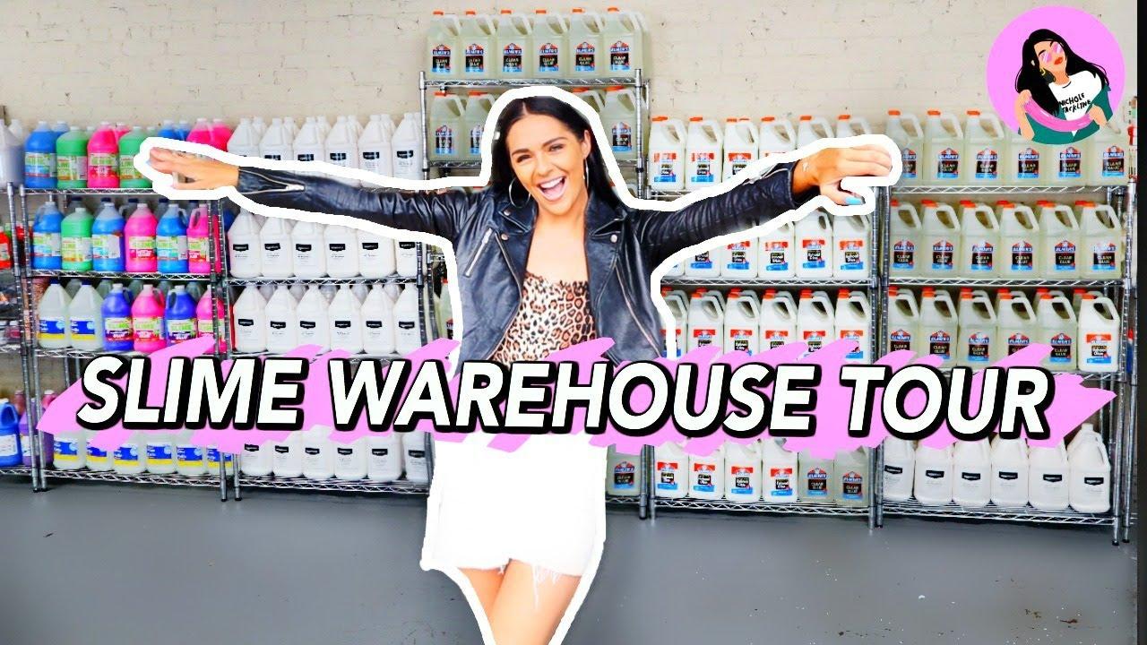 Slime Warehouse Tour 2020! Nichole Jacklyne official slime warehouse tour!
