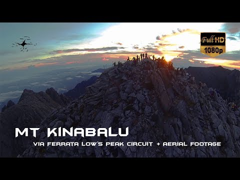 Epic Mt Kinabalu Climb Via Ferrata Low's Peak Circuit with Aerial Footage! 19th May 2014