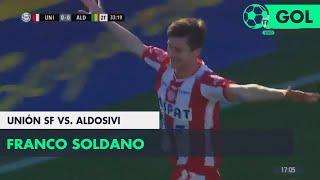 Franco Soldano (1-0) Unión SF vs Aldosivi | Fecha 1 - Superliga Argentina 2018/2019