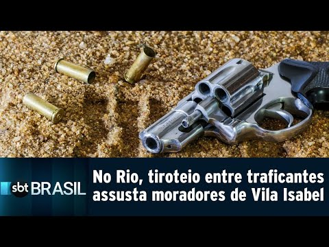 No Rio, tiroteio entre traficantes assusta moradores de Vila Isabel   SBT Brasil (20/07/18)