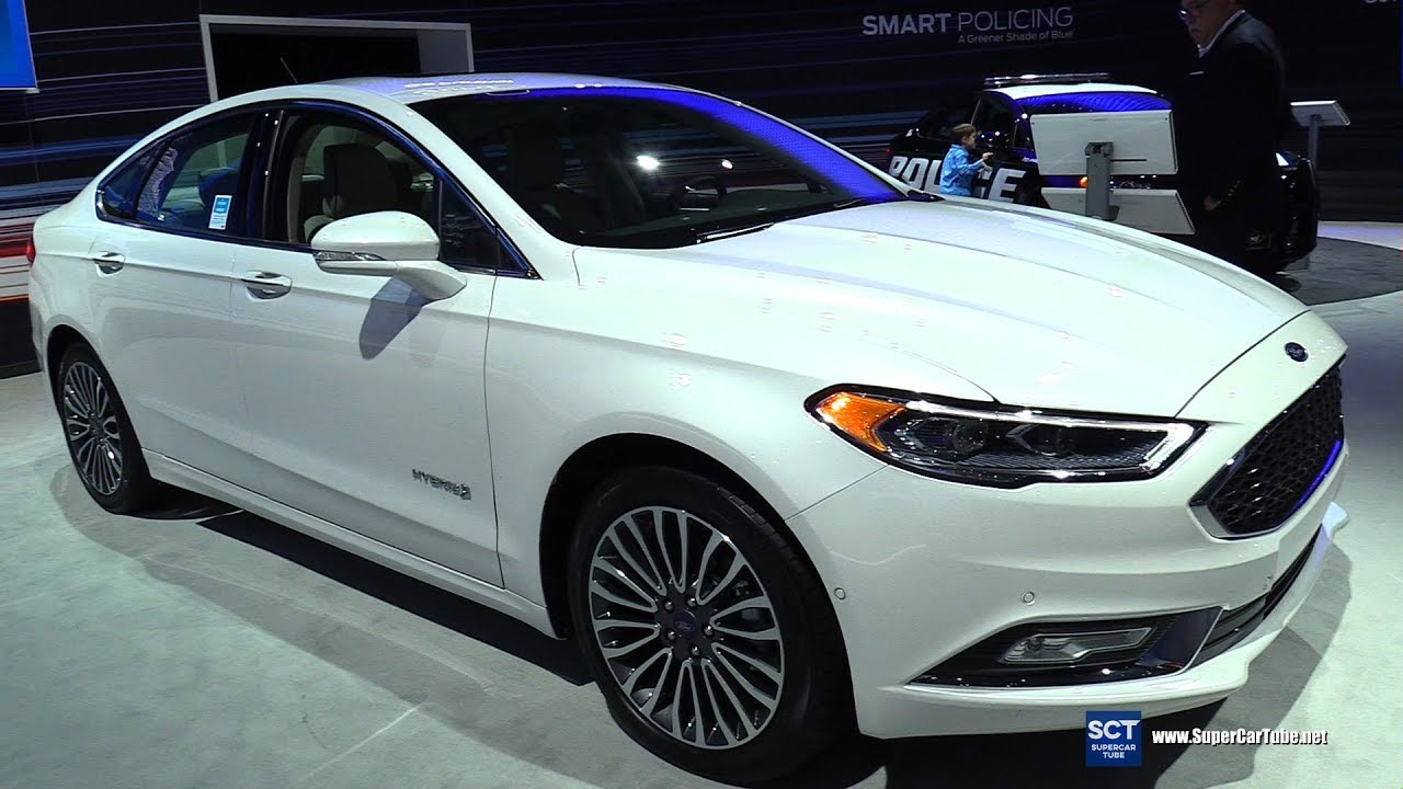 2017 Ford Fusion Anium Hybrid Exterior And Interior Walkaround New York Auto Show