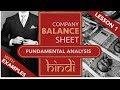 Lesson 1 | Stock Fundamental Analysis in Hindi - Balance Sheet |