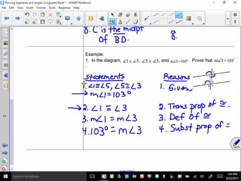 Proving Segments and Angles Congruent 2017