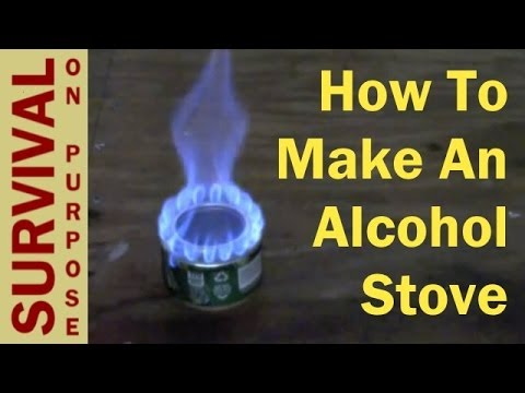 How to make an alcohol stove survival gear youtube for How to make a stove