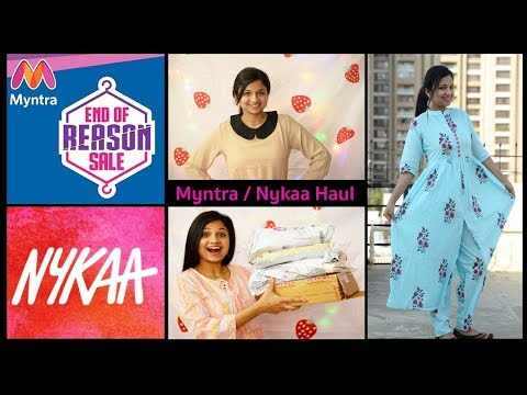 Myntra / Nykaa Haul | Myntra EORS Sale | Try On Haul | Mukta Niranjan