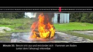 Erdgas-Auto im Brandtest